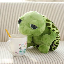 20cm Funny Stuffed Plush Animals Super Green Big Eyes Stuffed Tortoise Turtle Animal Plush Baby Kids Toy Birthday Gift(China)