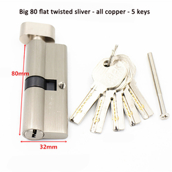 Цилиндры замка дверного замка 55 60 65 70 75 80 мм для дверного замка толщиной 35- 50 мм для дома цилиндры замка сердечника 5 ключей