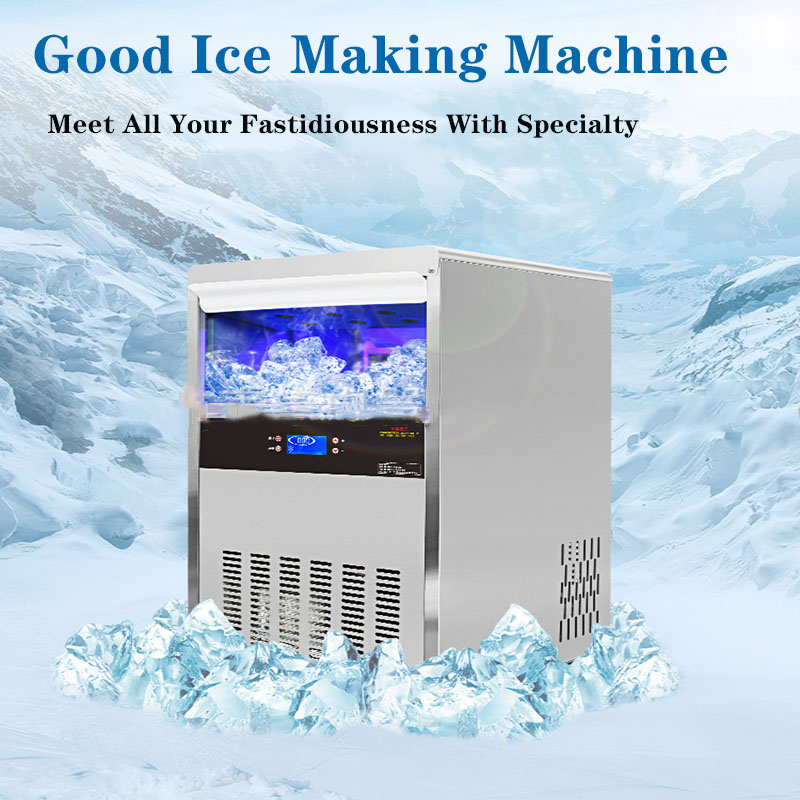 Commercial Ice Maker Small Ice Maker Milk Tea Shop Bar KTV Automatic Water Cube 260W Large Yield Ice Maker