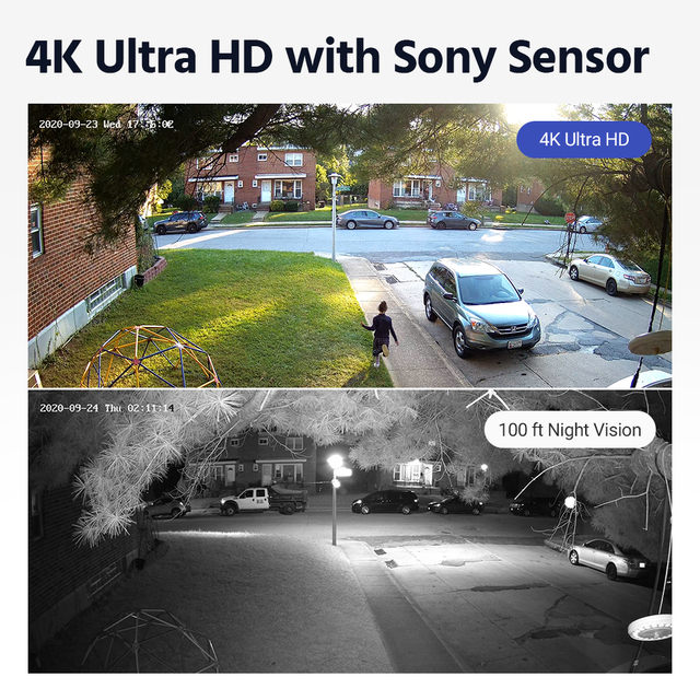 ANNKE – caméra de Surveillance IP 4K POE 8MP, pour l'intérieur et l'extérieur, résistante aux intempéries, enregistrement Audio 2