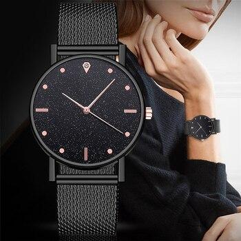 Watch Women Dress Stainless Steel Band Analog Quartz Wristwatch Fashion Luxury Ladies Golden Rose Gold Watch Clock Analog 2