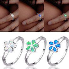 Anillos para las mujeres sortija anillos Anillo la nueva moda Floral Anillo de ópalo muestra su personalidad única кольцо женское
