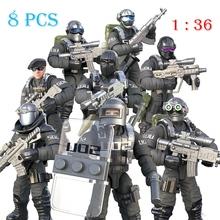 8 sztuk zestaw wojskowe siły specjalne żołnierz cegły figurki broń broń kompatybilne klocki lego City SWAT klocki budowlane zabawka dla dzieci prezent tanie tanio GPkstar Certyfikat XJ00822BLO-8pcs Do not eat ! Unisex 6 lat Bloki Z tworzywa sztucznego Samozamykajcy cegły IN OPP BAG