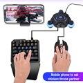 Clavier de jeu 35 touches simple main USB filaire rétro-éclairé clavier de jeu Mini téléphone clavier de jeu