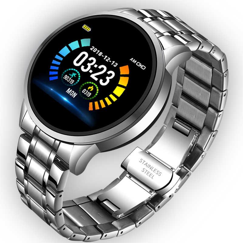 Lige 2020 Đồng Hồ Thông Minh Nam Đo Nhịp Tim Huyết Áp Thông Tin Nhắc Nhở Thể Thao Chống Thấm Nước Đồng Hồ Thông Minh Smartwatch Cho Android IOS