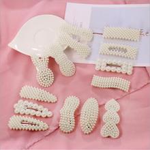 Women Girl Korea Hollow Geometric Waterdrop Acrylic Hair Clips Shiny Tinfoil Sequins Hairpin Accessories Barrette