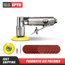 SPTA 36Pcs 1inch/2inch/ 3inch 80mm Air Palm Sander Car polisher Buffer Pad Sanding Sets For Car Polishing Buffing