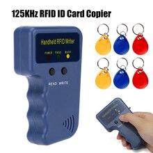 цены 125KHz EM4100 RFID Copier Writer Duplicator Programmer Reader + T5577 EM4305 Rewritable ID Keyfobs Tags Card 5200 Handheld