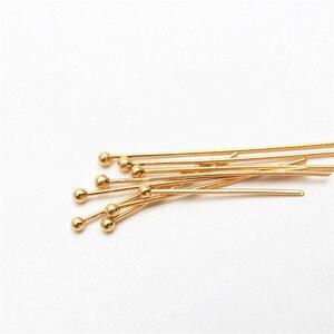 22-25 30 мм 316 из нержавеющей стали, покрыты золотом, серебром, шаровой головкой шпильки, фурнитура для изготовления украшений, диаметром 24-датчик 50 шт./лот