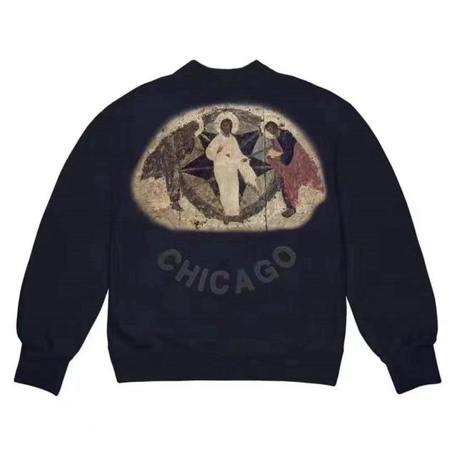 Jesus is King Peripheral Limited Three Gods Religion Oil Painting Sweatshirt  1