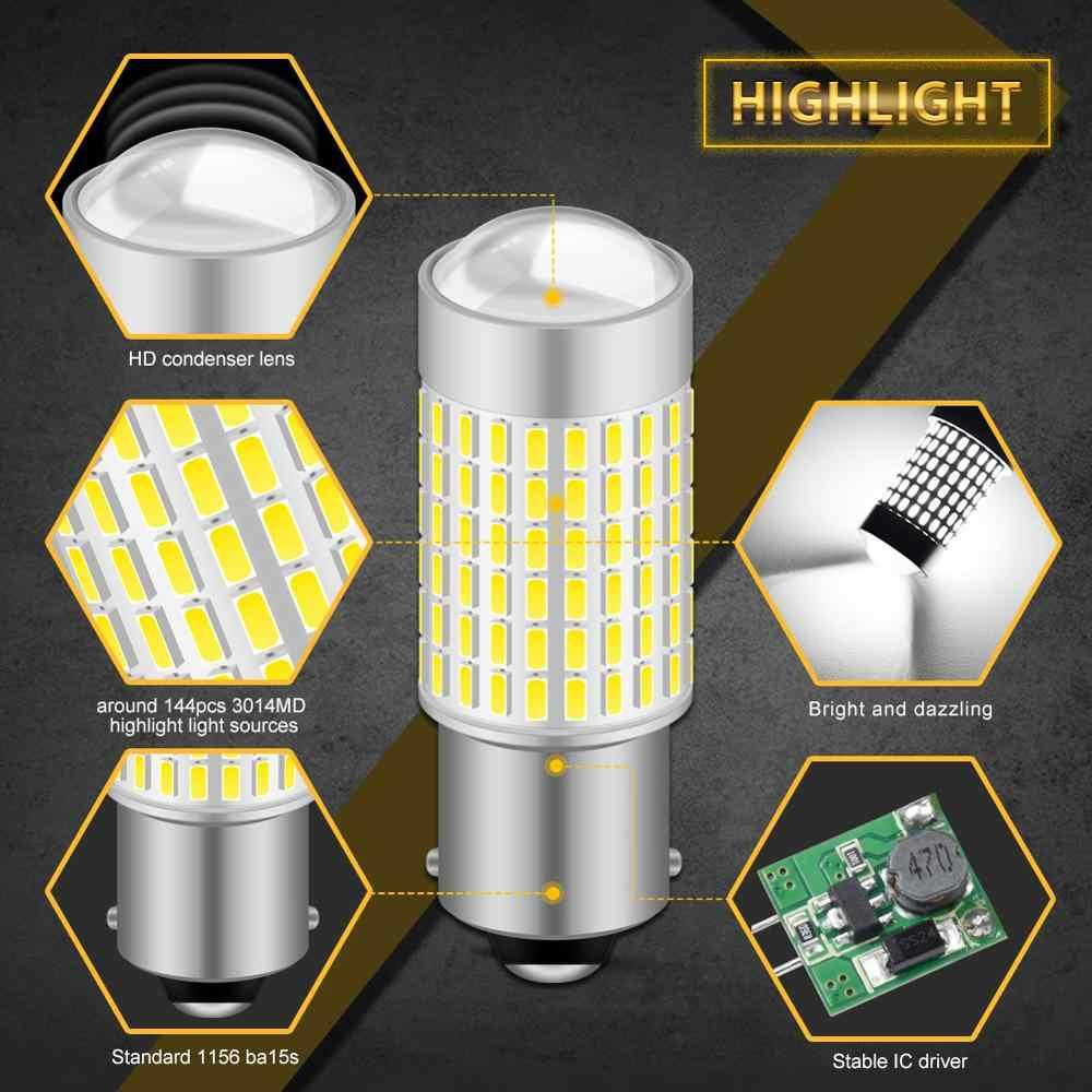 2X T20 T25 1156 P21W BA15S Mobil LED Reverse Light Bulb W16W 921 T15 Backup Lampu untuk Peugeot 307 206 308 407 207 3008 2008 406 208