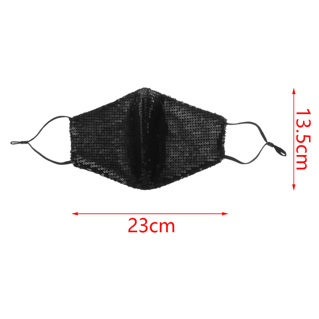 Fashion Sequin Mouth Masks Sexy Anti-haze Dustproof Cotton Breathable Party Shining Face Cover bacteria proof Flu Masks 5