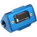 Oled цифровой дисплей измеритель температуры воды система охлаждения воды двойной G1/4 дюйма термометр Температура фитинг-датчик (синий)