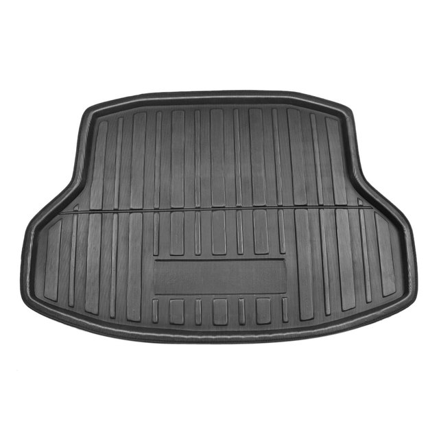 X Autohaux PE+EVA foam Anti dirty Black Rear Trunk Boot Liner Cargo Mat Floor Carpet Tray Cover for Honda Civic Sedan 2006 2018