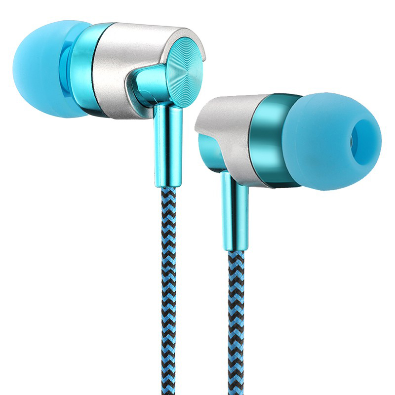 3.5mm Wired Earphones Stereo Earbud <font><b>Headphone</b></font> Super Bass Stereo Music Headset With Mic For Cell Phone Universal In-Ear Earphones