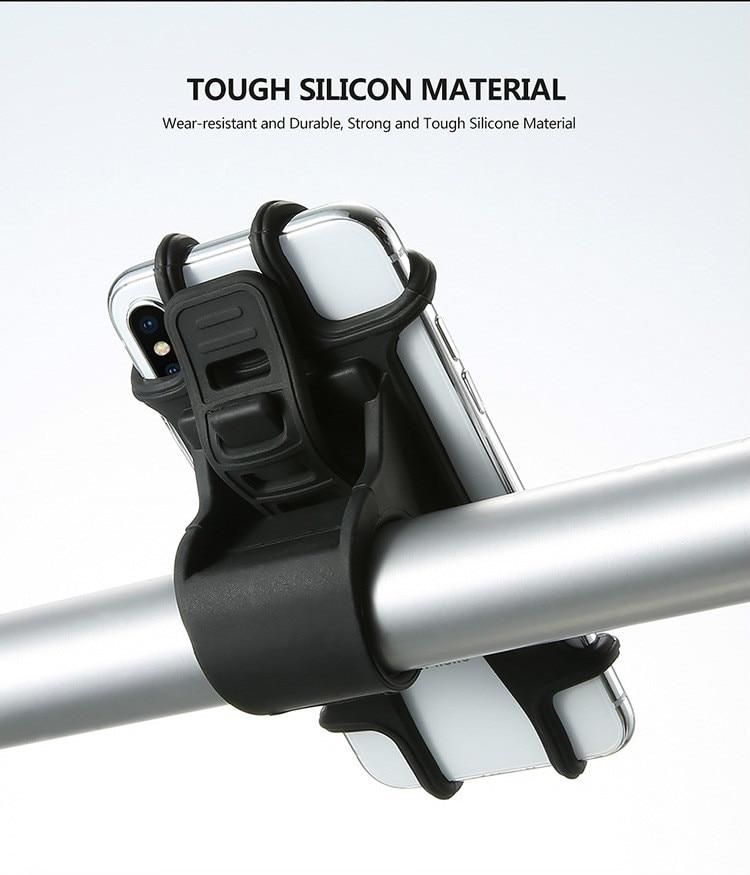 Youbina Bike Bycicle Phone Holder Silicone Adjustable Pull Button Anti-shock Phone Holder Mount Bracket Fork