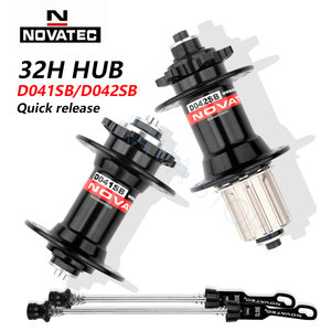 Image 2 - Novatec Hub D041SB D042SB VTT frein à disque 32 trous vtt route vélo roulement 36H moyeux 8/9/10/11/12 vitesse rouge noir