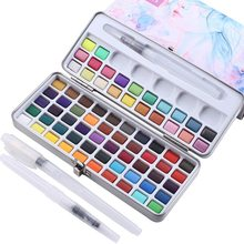 Watercolor Paint Set, 72 Colors - Including Metallic and Neon, Watercolors Field Sketch Set with Brush for Students, Kids, Begin