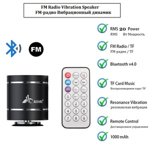 Image 3 - Adin Portable Bluetooth Vibration Speakers With Fm Radio Remote Mini Vibrating Speaker Wireless Subwoofer Bass Speaker For Phone