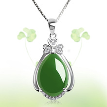 S925 Sterling Silver Necklace Pure Natural Emerald Pendant for Women 100% 925 Jewelry Bizuteria Green Emerald Gemstone Pendant jewelrypalace luxury pear cut 7 4ct created emerald solid 925 sterling silver pendant necklace 45cm chain for women 2018 hot