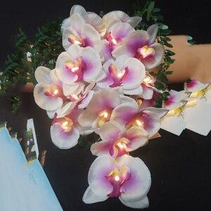 Image 3 - วันหยุดทำด้วยมือดอกไม้Orchid Light String,ตกแต่งคริสต์มาสงานปาร์ตี้/ใหม่ปีดอกไม้,อุปกรณ์งานรื่นเริงตกแต่งบ้าน