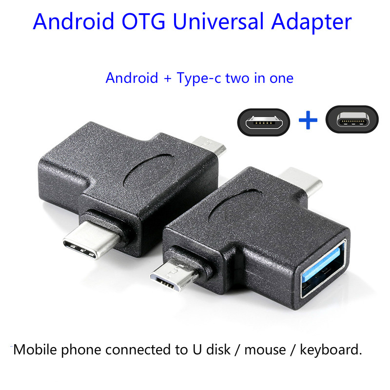 Mobile Phone Otg Adapter Two-in-one Android U Disk Downloader Mp3 Millimeter VivoOp image