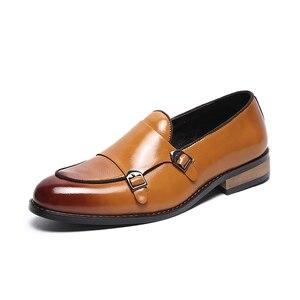 Image 4 - 2020 Scarpe Da Uomo Formale di Alta Qualità Per Il Tempo Libero Traspirante Affari Degli Uomini di Cuoio Scarpe Da Sera Scarpa Mocassini Oxford Scarpe