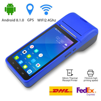 POS Terminal PDA Barcode Scanner Android 8 3G WIFI Bluetooth wireless Thermal Printer Billing Machine RD 6000