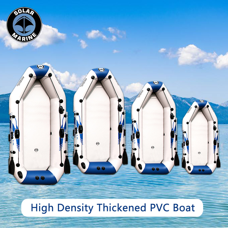 Outdoor Water Inflatable Boat 2-6people PVC Inflatable Boat Dinghy Fishing Rowing Boat For Drifting Surfing With Aluminum 3