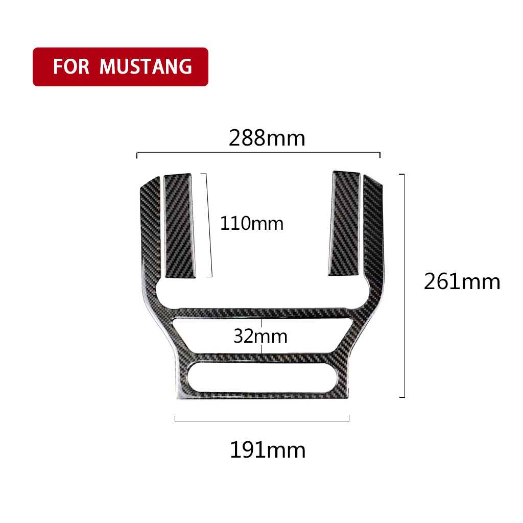 1pc Black Decorative Sticker Carbon Fiber Car Console Panel Decorative Stickers 288 261mm For Ford Mustang 2015 2017 in Lift Kits Parts from Automobiles Motorcycles