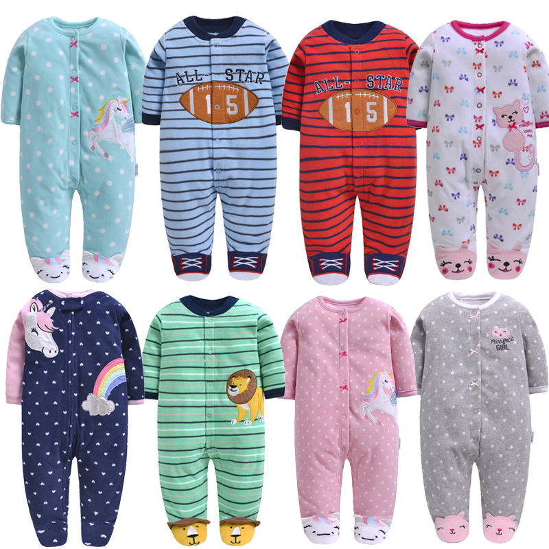 2020 baby clothing newborn baby jumpsuit fleece pajamas overalls infants baby clothes boys winter clothes pajamas toddler costume
