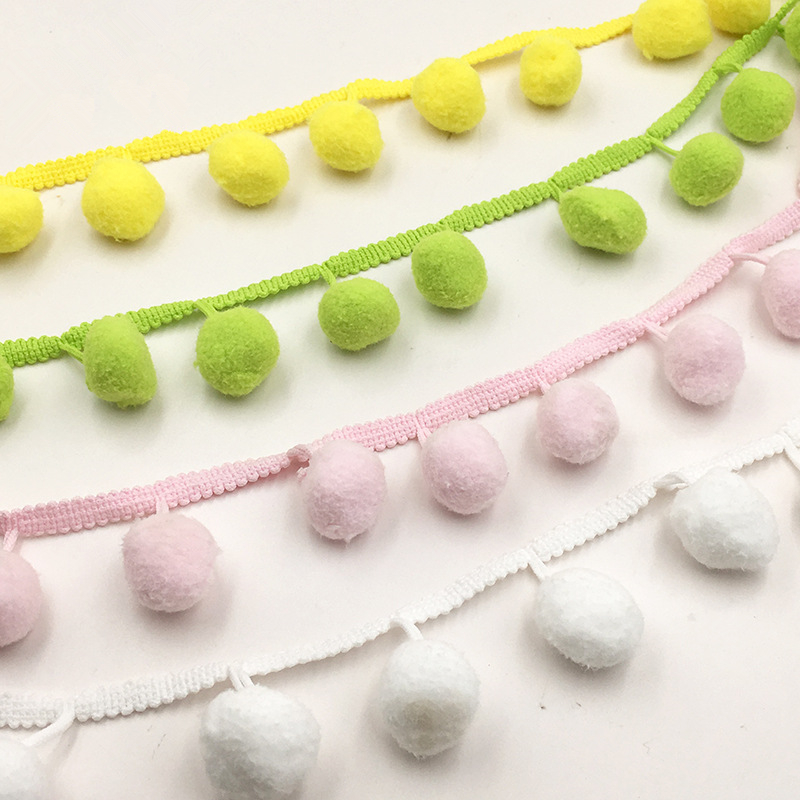 20meters/lot  Terylene Pom Lace Trim for DIY Sewing Accessories - Free Shipping
