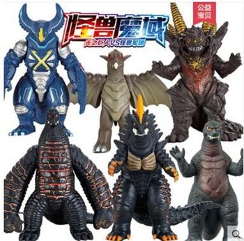 Monster Magic Domain Ultraman Soft Reed King Asteron Power Toy 12 Pack Monster Set  PVC Hand Figure Model Kid Dolls Toys styling