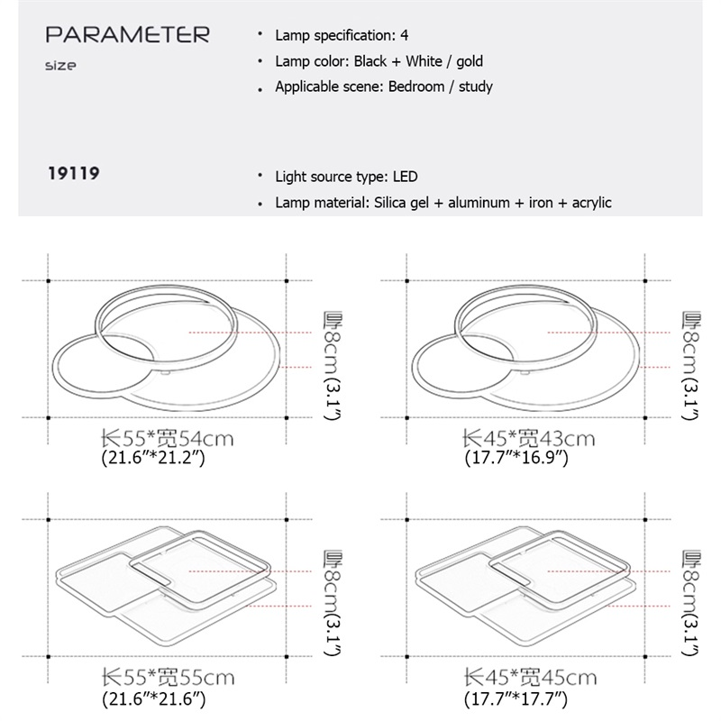 remoto equipamento decorativo moderno com ajuste 05