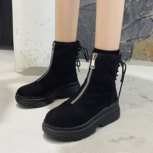 Fashion Rubber Boots Women Black Western Cowboy 2019 New Winter Fall High Platform