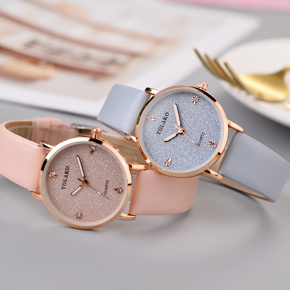 Famous Brand Watch Women's Casual Quartz Leather Band Starry Sky Watch Analog Wrist Watch Simple Female Clock Watch Montre Femme