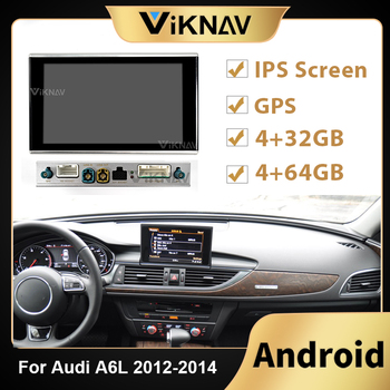 Android Car Radio player For AUDI A6L 2012 2013 2014 Car Split machine Head Unit Stereo Recorder DVD Multimedia Player image