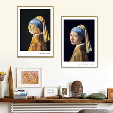 Creative Girl / Cat With A Pearl Abstract Canvas Paintings Wall Art Pictrues On The Wall Poster Wall Painting Living Room