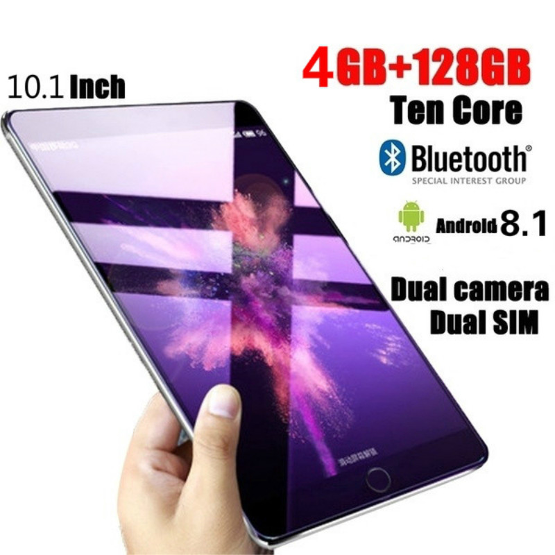 New Original 10 Inch Tablet Pc 10 Core 4G Phone Call Google Market GPS WiFi FM Bluetooth Tablets 4G+128G Android 8.0 Tab