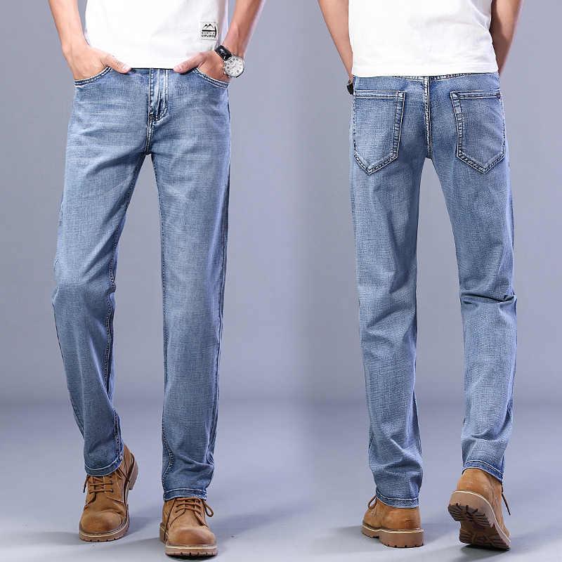 Pantalones Vaqueros Elasticos De Corte Recto Para Hombre Jeans De Estilo Nuevo Para Primavera Y Verano 2021 Pantalones Vaqueros Aliexpress