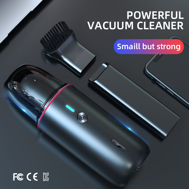 White dolphin Mini 4500Pa Wireless Portable Vacuum Cleaner Collector Aspirator  Powerful Cyclone Suction For Home Car