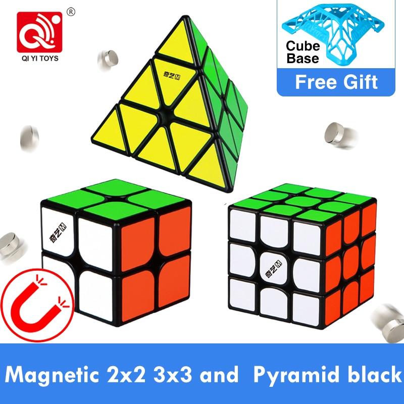 Qiyi MS Series Magnetic 2x2 3x3 4x4 5x5 Jinzita Mofangge Magic Cube Toys Twisty Speed PyramidMagnets Neo Cubo Educational Toys