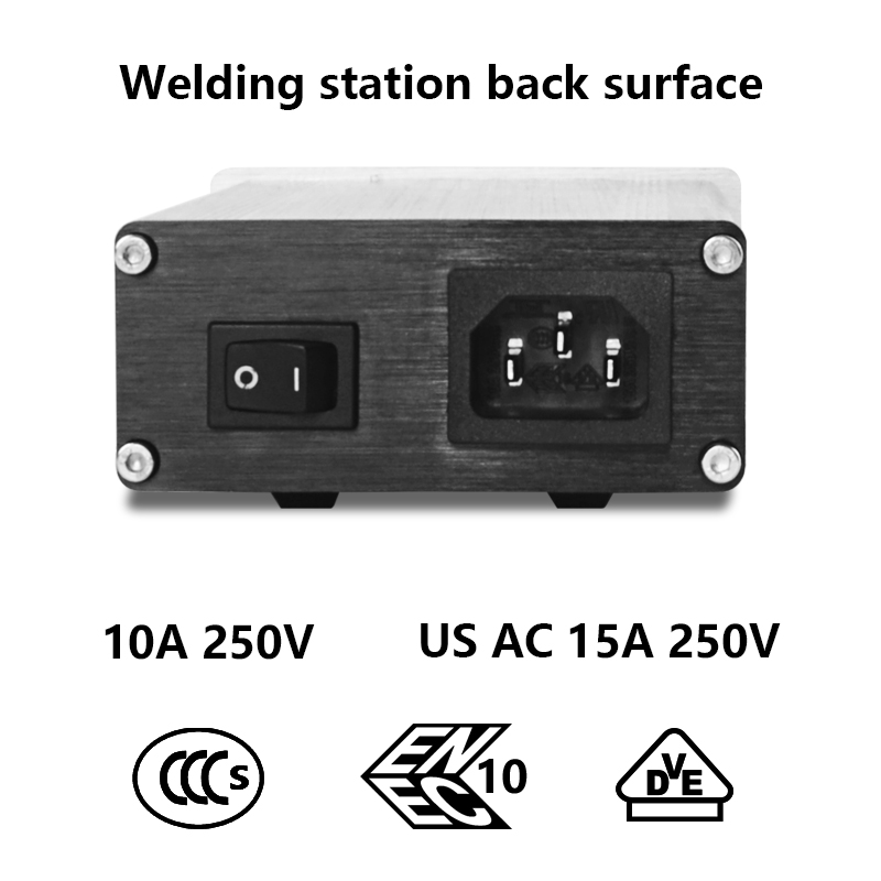 Image 3 - T12 Soldering Station STC OLED 1.3 Display Adjustable Temperature Digital Electronic With Soldering Tips Welding ToolsSoldering Stations   - AliExpress