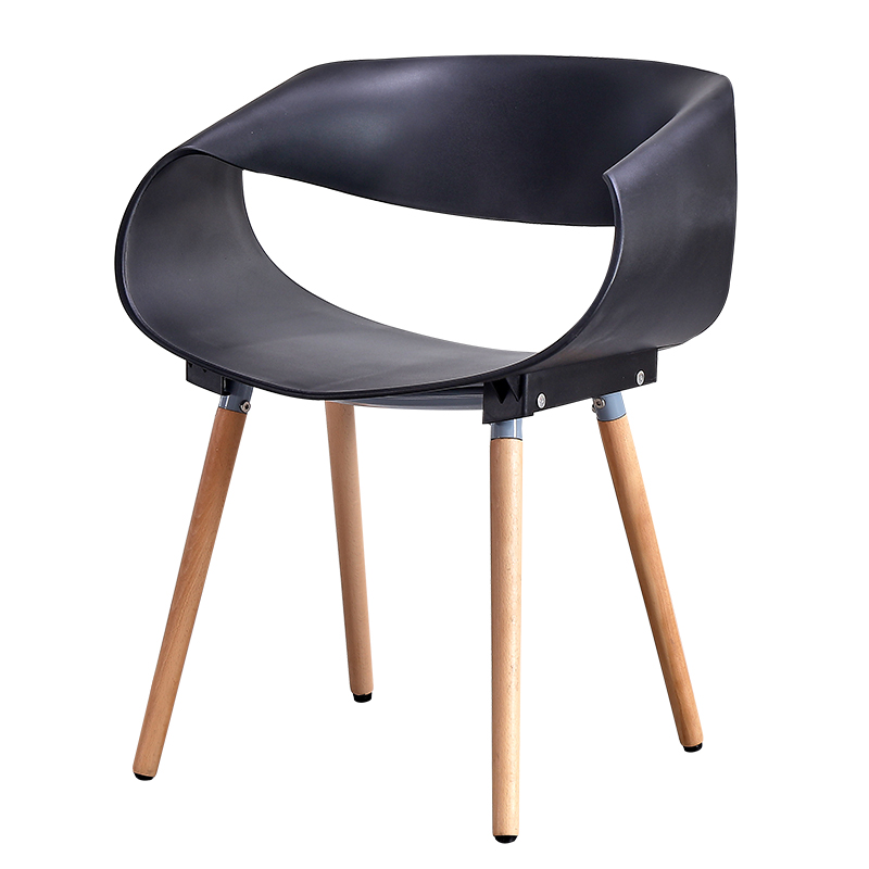 Nordic INS Creative Design Solid Wood Plastic Chair Chair Dining Room Modern Restaurant Furniture Outdoor Coffee Kitchen Chairs