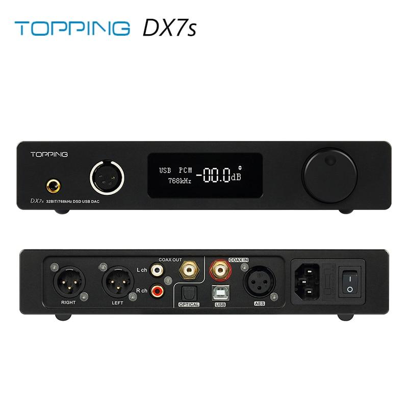 Topping DX7S 2*ES9038Q2M 32Bit/768K DSD512 DSD USB Full Balanced DAC Headphone Amplifier