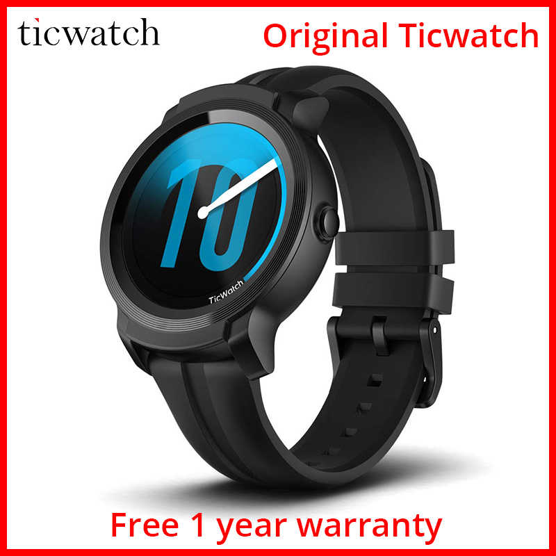 Ticwatch E2 Smart Watch Wear OS by Google Bluetooth GPS Fitness Smartwatch 5 ATM Waterproof and Swim-Ready 2 Days Battery Life