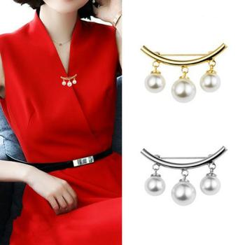 Wedding Clothes Decor Fashion Brooch Pin Women Faux Pearl Dangle Brooch Pin Cardigan Shawl Clip Jewelryes Gift Brooch Pin Gift image
