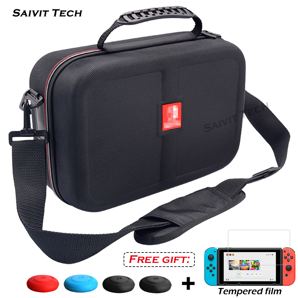 Nintendoswitch Big Storage Carrying Bag Nintend Switch Accessories Travel Hard Case Cover&Tempered Film for Nintendo Switch Game(China)
