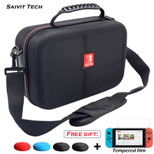Nintendoswitch Big Storage Carrying Bag Nintend Switch Accessories Travel Hard Case Cover&Tempered Film for Nintendo Switch Game