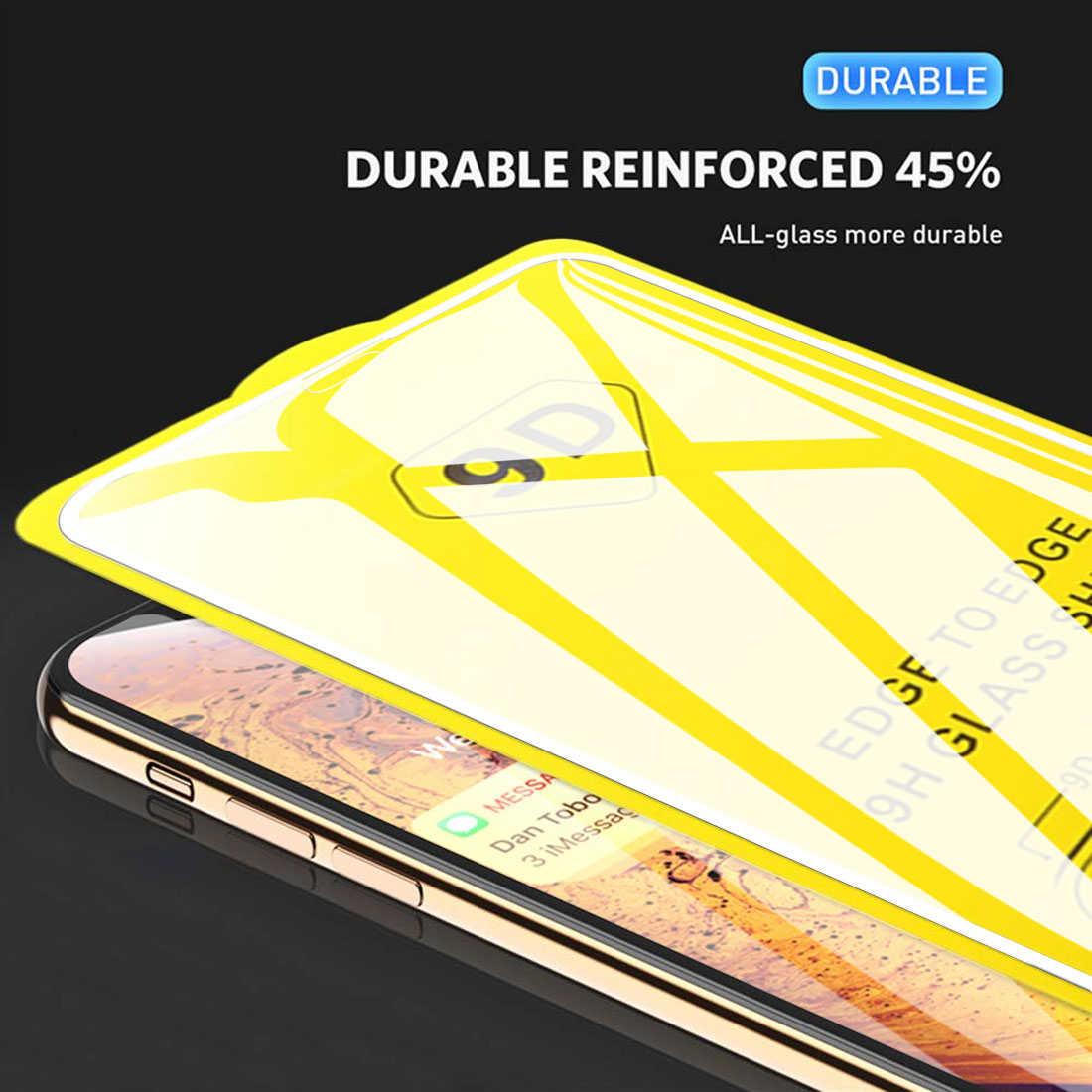 9D Full Cover Tempered glass New  For Iphone 8 /8 Plus/ X/ XS/ XR/ XS Max full cover screen protector film Case professional